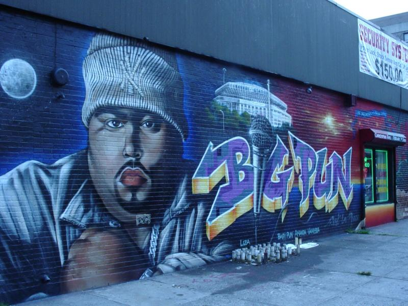 New york has the goat tupac mural sports hip hop piff for Eminem wall mural
