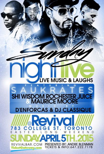 Sunday Night Live - Apr 5 @ Revival