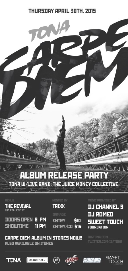Tona Carpe Diem Album release party